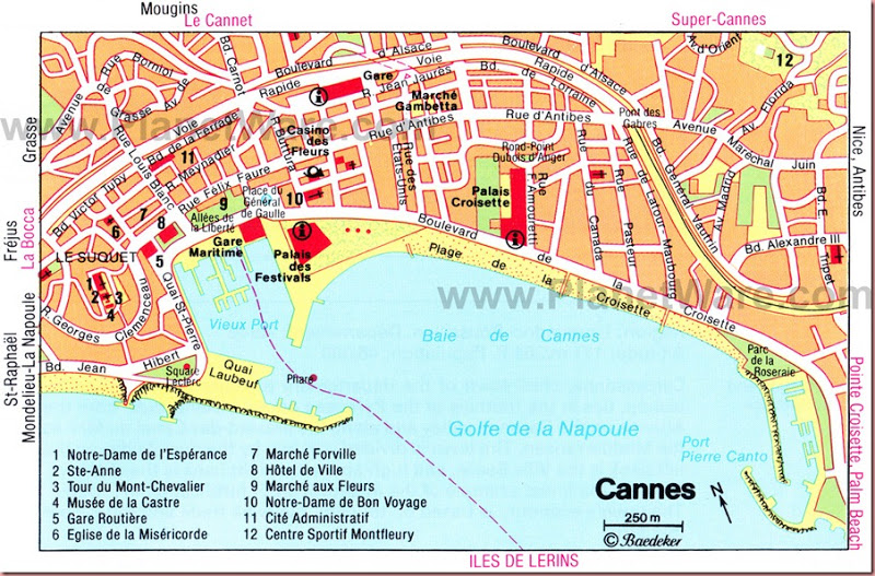 france cannes tourist map