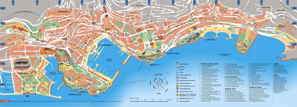 monaco monte carlo tourist map