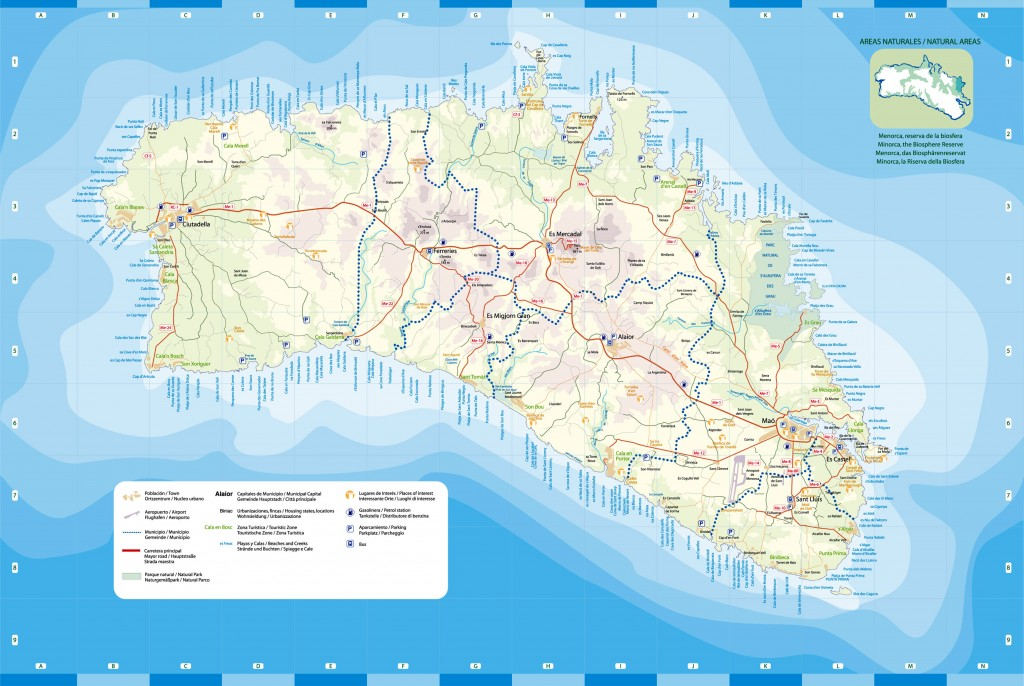 Menorca Tourist Map